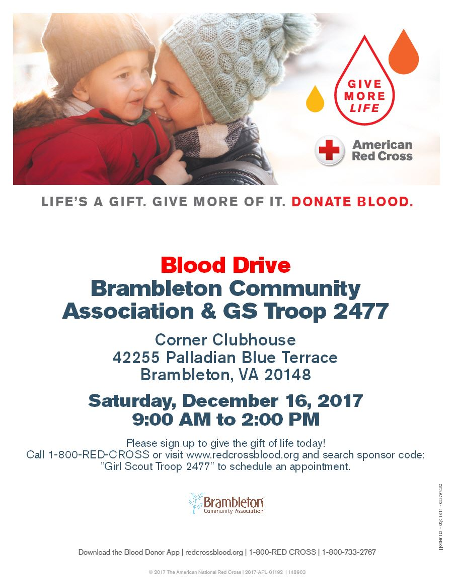 Girl Scout Troop 2477 Blood Drive