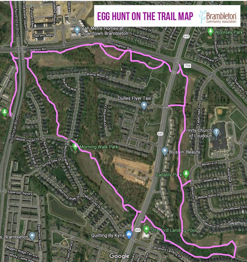 Egg Hunt on the Trail 2020 - Map
